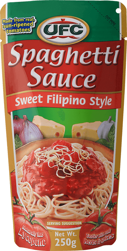 ufc spaghetti sauce sweet filipino style