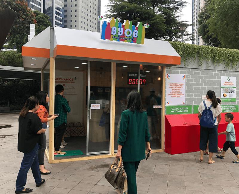 NutriAsia's BYOB refill station
